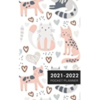 2021-22 Cats Pattern 2-Year Pocket Planner: 2021-2022 Two Year Pocket Planner Monthly Calendar   January 2021 - December…