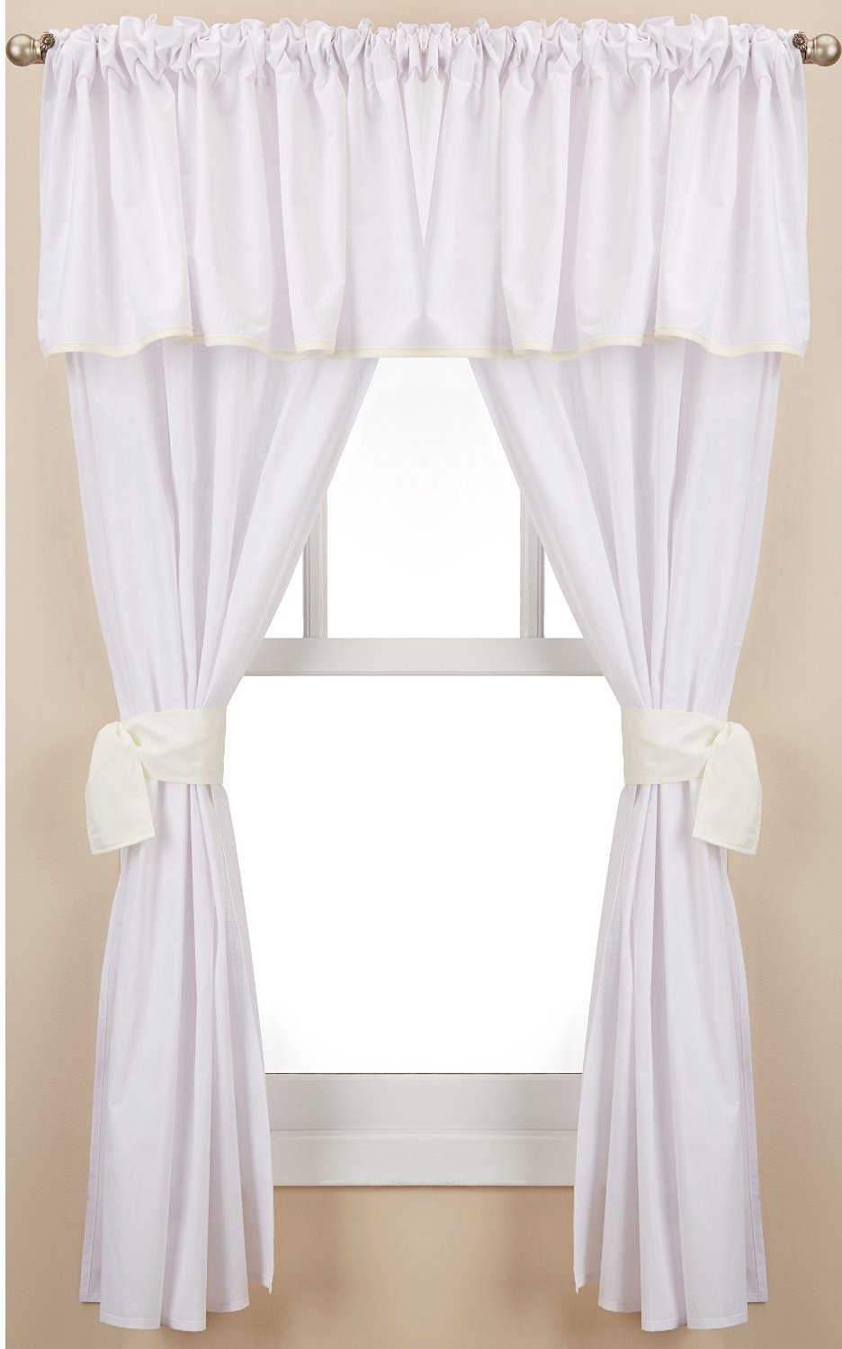 Baby Doll Bedding Forever Mine Junior 5 Piece Window Valance Curtain Set, Lavender 560valc5-lav