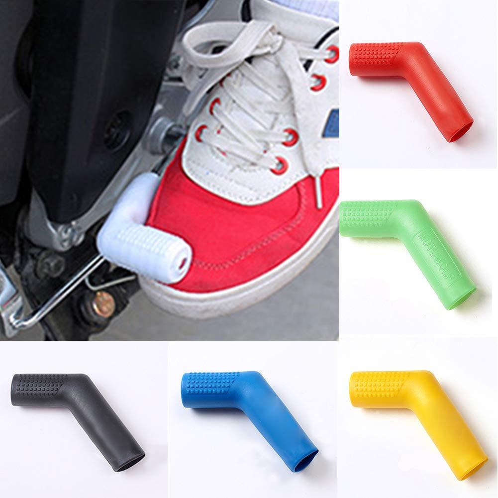protector de palanca de cambios antideslizante,rojo funda protectora universal de silicona para botas zapatos Funda protectora para palanca de cambios de motocicleta Lnimikiy