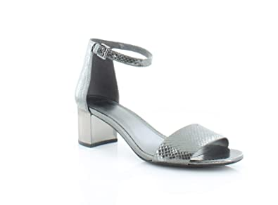 9b9d06e628 Michael Kors Womens Paloma Open Toe Casual Strappy Sandals, Gunmetal, Size  8.0