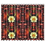 Jc-Dress Window Curtain Love And Flowers Curtain Drapes 50X84 (Set of 2 Panels)