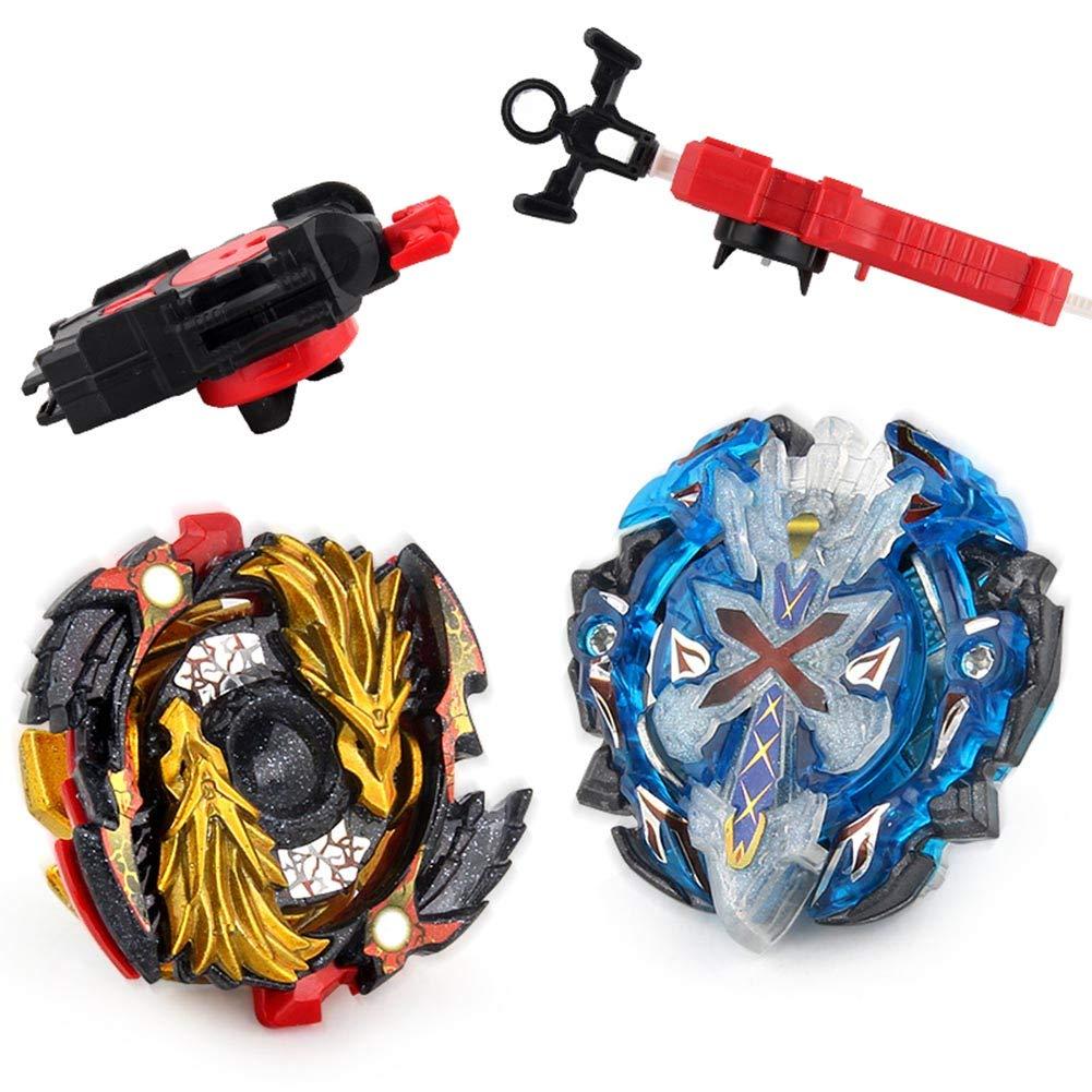Lavendei 2 Stück 4D Fusion Modell Metall Masters Speed Kreisel | Kampfkreisel mit Launcher Kinder, Jugendliche und Erwachsene (B-00+B-67)