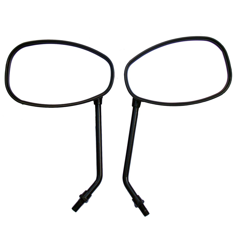 One Pair Black Oval Rear View Mirrors for 2002 Suzuki Vstrom 1000 DL1000