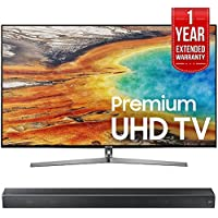 Samsung UN55MU9000 55-Inch 4K Ultra HD Smart LED TV (2017 Model) w/ Samsung HW-MS650/ZA Sound+ Premium Soundbar + 1 Year Extended Warranty