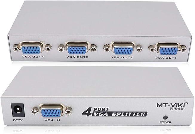 1 pc a 4 monitores separador de señal VGA/SVGA CRT LCD de 4 ...