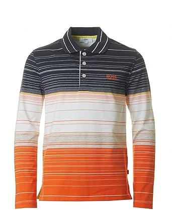 ea5abcd0 Boss Long Sleeve Polo Shirt Blue J2: Hugo Boss: Amazon.co.uk: Clothing