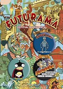 Posters: Futurama Badge Pack - 4 X 38mm Badges (6 x 4 inches)