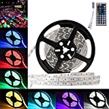 LEDMO 5050 RGB 300LEDs Waterproof IP65, LED Strip Light with 44 Key IR Remote Controller, Multi-colors, Pack of 1pc16.4Ft/5M 300LEDs Strip Light + 1pc 44 Key IR Remote Controller
