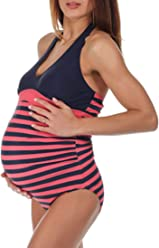 8bf0067d27b69 The Essential One Women s Stripe Maternity Swimsuit