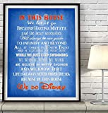 We Do Disney In this House inspired Art Print, UNFRAMED, Magic Kingdom Mickey Mouse wall & home decor poster family nursery kids room sign, Birthday - Housewarming - Christmas gift, ALL SIZES
