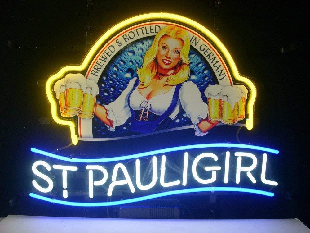 Queen Sense 24x20 Blue Moon Martini Waiter Waitress Casino Neon Sign Beer Bar Pub Man Cave Business Glass Lamp Light DC295 VariousSizes