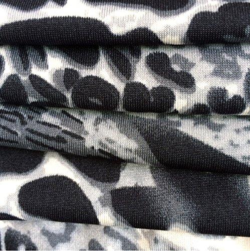 Las Mujeres Del Vestido De La Playa De La Cintura Falda Colorida Impresa Crecen Lapso Blue