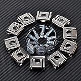FidgetFidget Engine Cover Undertray Kit Screw Metal Clips for Audi VW Skoda 8D0805121 30xSet