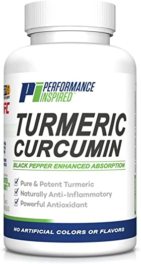 Performance Inspired Nutrition Turmeric Curcumin, 60Count
