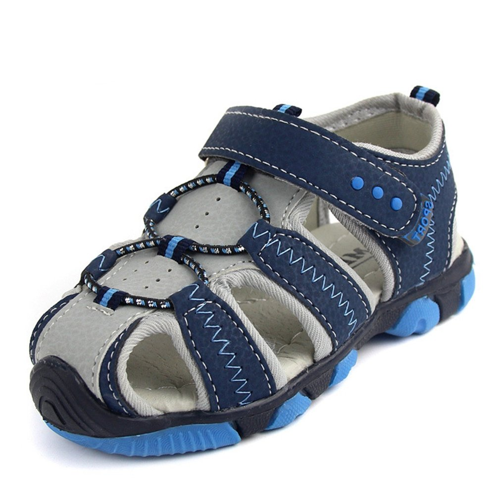 CYBLING Boys Outdoor Beach Sports Closed-Toe Sandals Breathable Summer Shoes for Kids (Toddler/Little Kid)