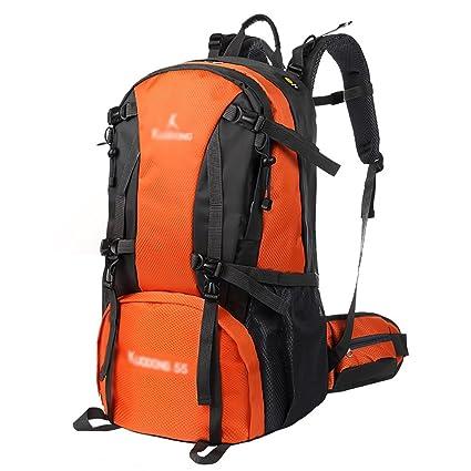 mochilas montaña Bolso de alpinismo para camping al aire libre 55L Hombres y mujeres viajan al