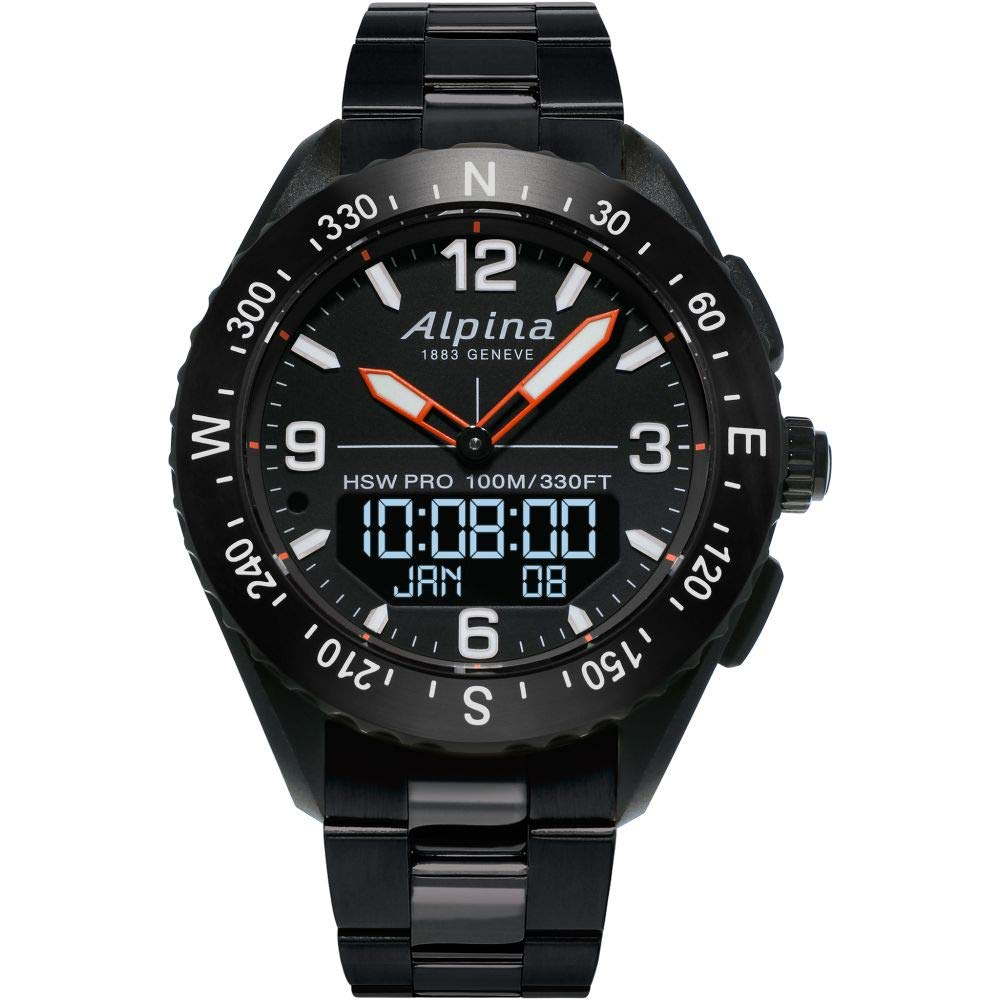 Image of Alpina Alpiner Quartz Movement Black Dial Men's Watches Sport Watches