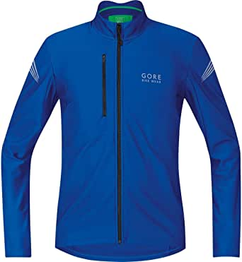 GORE BIKE WEAR Men's Thermal Cycling Jersey, GORE Selected Fabrics,  Thermo Jersey, Size L, Brilliant Blue, SELETM600005