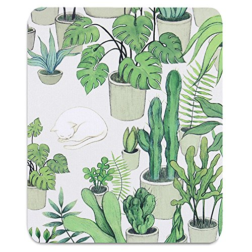 Custom Original Nature Series Mouse Pad (Cactus and Cat)