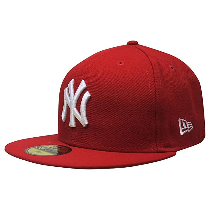 Amazon.com  New Era New York Yankees Basic Logo White 59FIFTY Cap ... b05b5cf603d