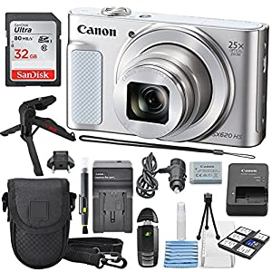Canon PowerShot SX620 HS Digital Camera along with Deluxe Accessory Bundle and Cleaning Kit