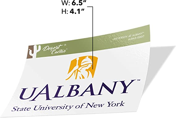 Full Sheet 2-Logo University at Albany UALBANY Great Danes SUNY NCAA Sticker Vinyl Decal Laptop Water Bottle Car Scrapbook