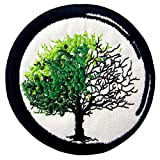 velcro sew on patch - Zen From Birth To Death Buddhism Patch Embroidered Applique Iron On Sew On Emblem