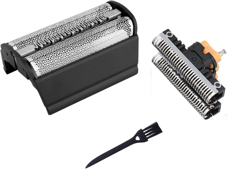 31B Cabezales de Afeitar para Braun Afeitadora Eléctrica Hombre 5000/6000 Series Contour Flex XP y Flex Integral Series 3 (Antigua Generación), Lámina de Afeitar de Repuesto Poweka para Braun 31S