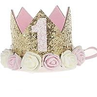 JMITHA 1 Paquete recién nacido y bebés arco del pelo de la venda elástico bebé turbante pelo niñas Corona Reina diadema