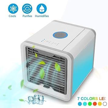 Klimageräte & Heizgeräte Split- & Inverter-klimageräte Mini Klimagerät Luftkühler Air Cooler Usb Mobil Luftbefeuchter Ventilator Weiß