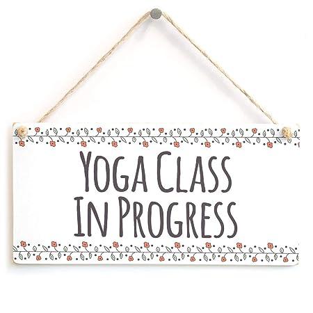Mr.sign Yoga Class In Progress Cartel de Pared Madera Placa ...