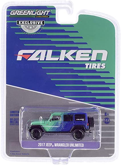Falken Tires 30124 GreenLight 1:64 2017 Jeep Wrangler Unlimited