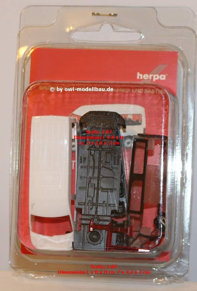 Herpa 013482 MiniKit Mercedes-Benz T2 Kasten weiß Scale 1 87