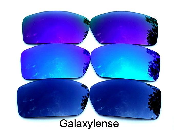 Galaxylense lentes de repuesto para Oakley Gascan negro, azul y morado Color Polarizados 3 Pares
