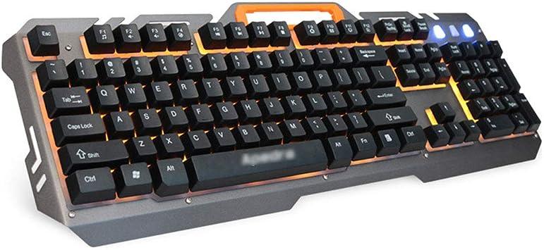 Teclado con Cable USB de Aluminio para Juegos y mecanografía ...