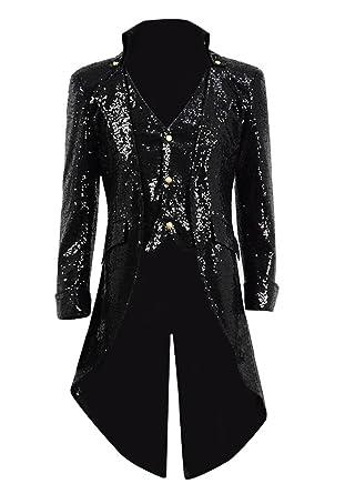 8b94de4dbf Amazon.com: Very Last Shop Men and Women Size Sequin Gothic Tailcoat  Steampunk Jacket Coat Halloween Costume: Clothing