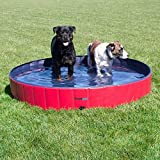 Image of FrontPet Foldable Extra Large Dog Pet Pool Bathing Tub, Kiddie Pool, 60 Inch X 12 Inch