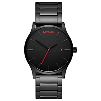 mvmt watches black face black stainless steel bracelet men s mvmt watches black face black stainless steel bracelet men s watch