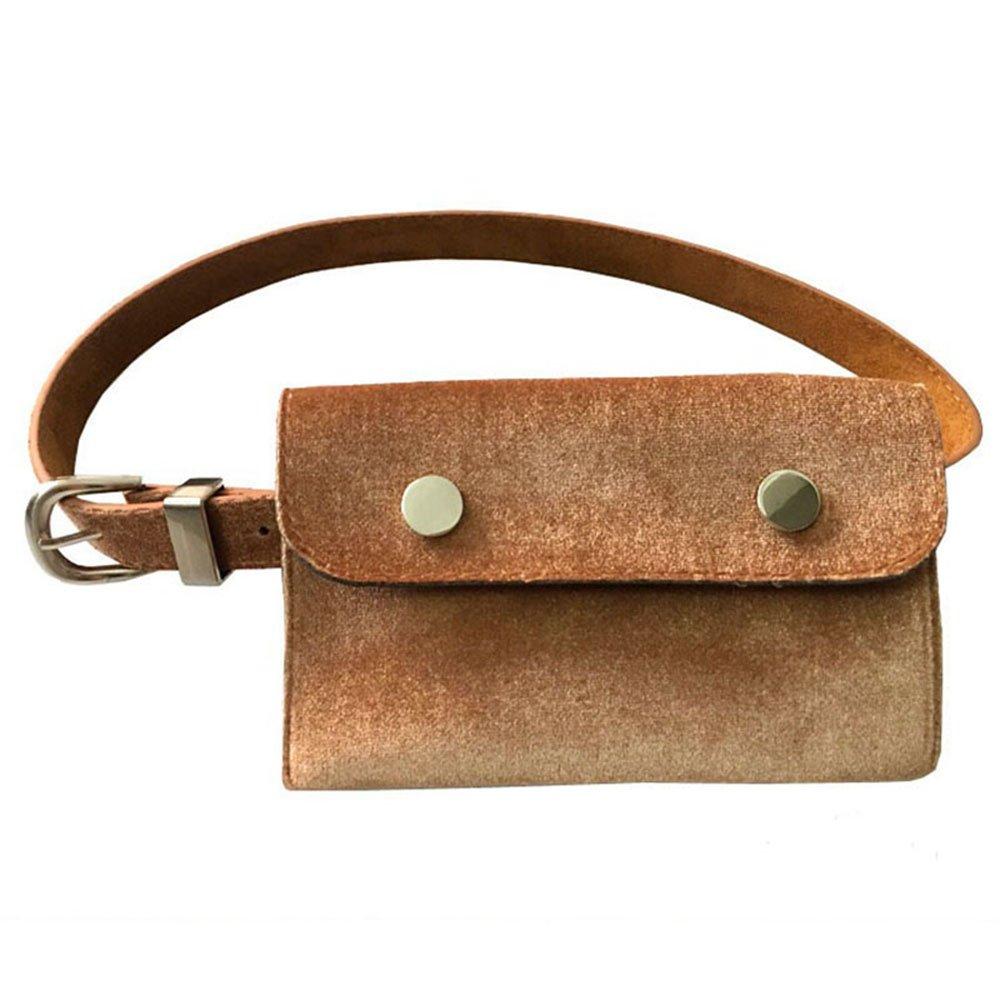 Karen Accessories PU Leather Fanny Pack Mini Waist Cellphone Wallet Bag Belt Purse
