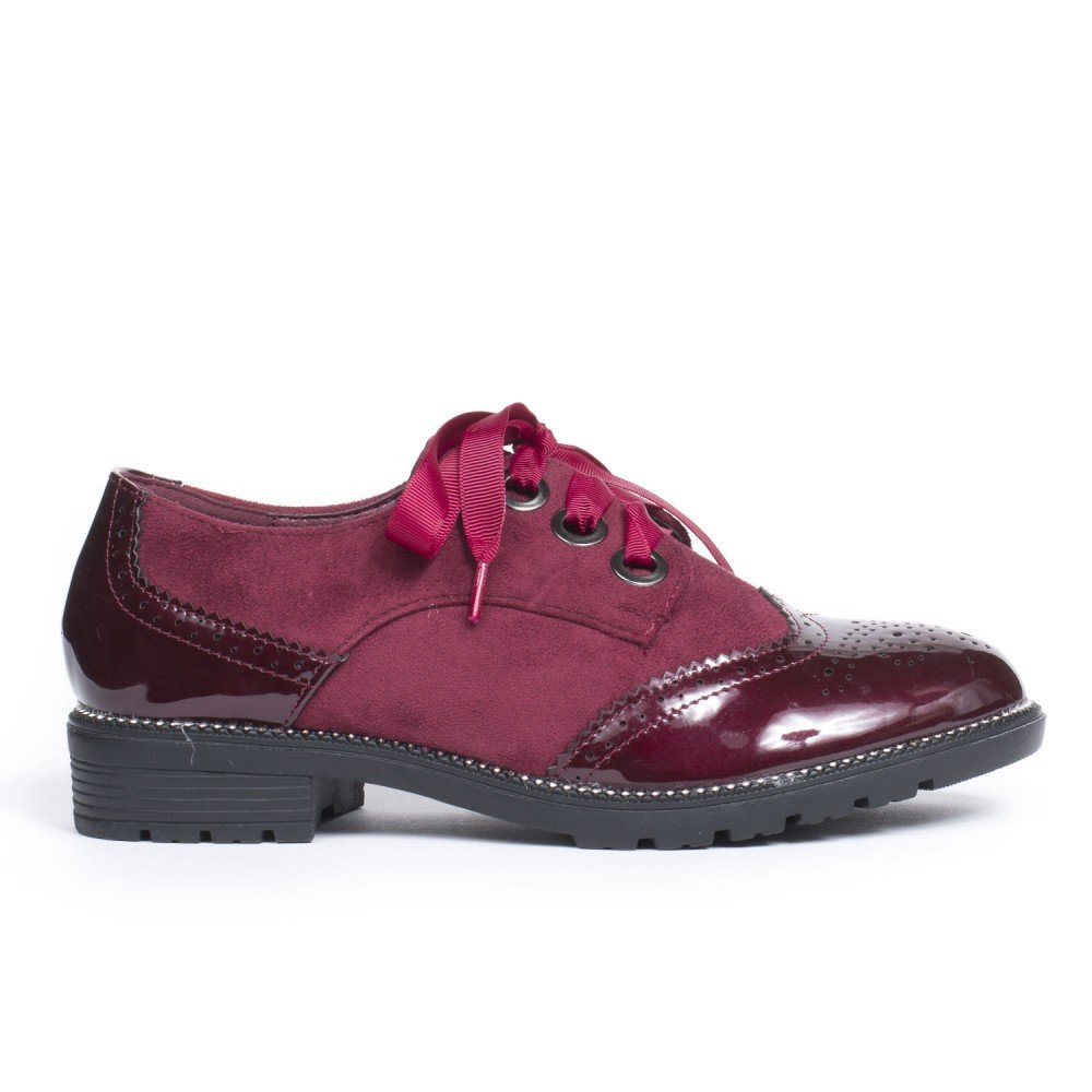 Ornellia Lacet Shoes 41 Ruban Bimatière Bordeaux Avec Derbies Ideal YTwAxIx