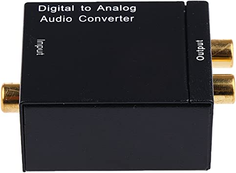 Coaxial óptica Digital A Analógico Convertidor De Audio Rca: Amazon.es: Electrónica