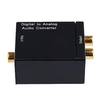 Coaxial óptica Digital A Analógico Convertidor De Audio Rca - Eu enchufe