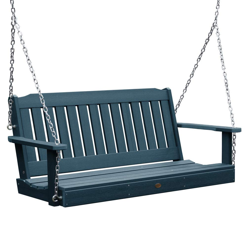 SKB family 4 Foot Lehigh Porch Swing, 52'' x 22'' x 24'' x 60 lbs, Nantucket Blue