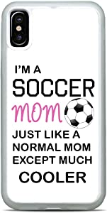 I'm A Soccer Mom Phone Case Sports Slim Shockproof Hard Rubber Custom Case Cover for iPhone 12 Pro Max Mini 11 XS