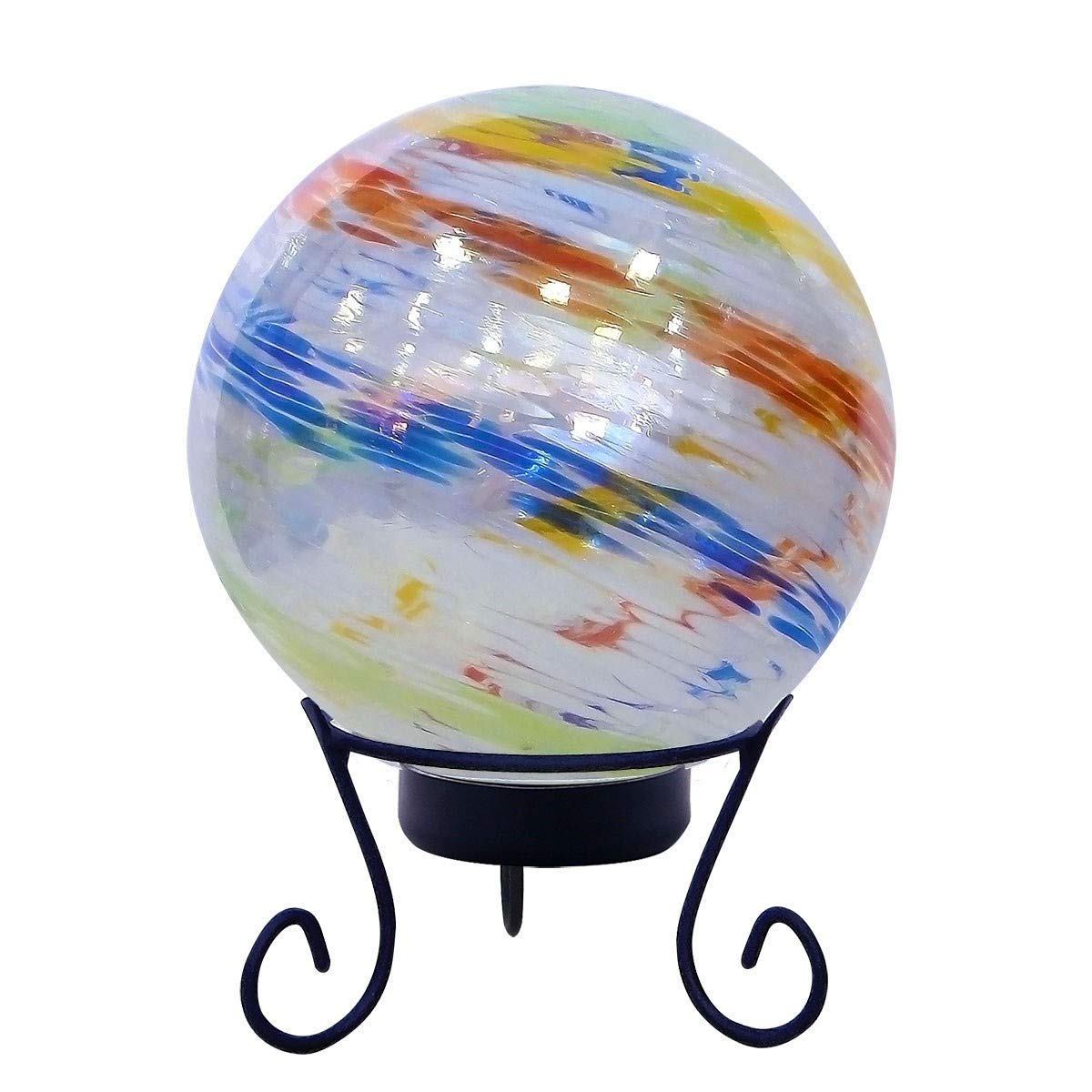 Alpine HGY310A-TM Gazing Globe with LED Lights, 10 Inch Tall Multi-Color