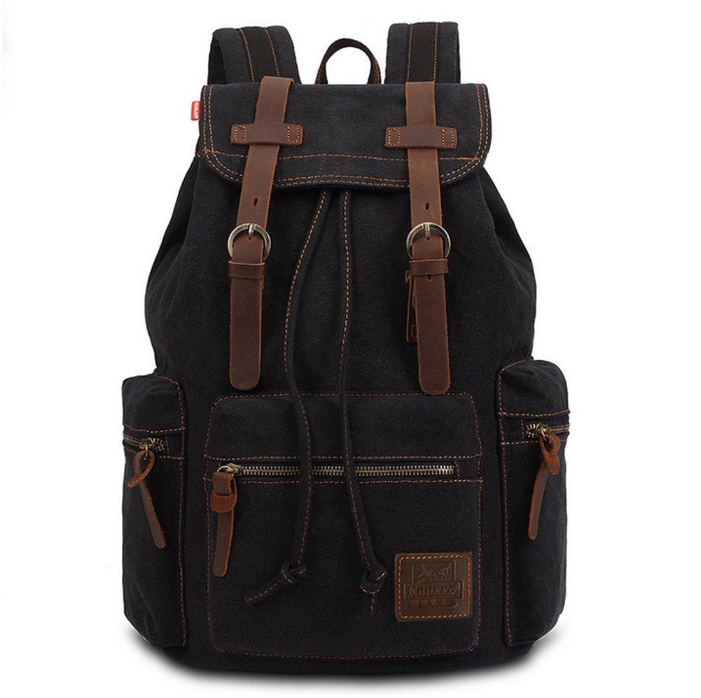 Unisex Canvas Backpack Multi-Functional Rucksack Casual Satchel Shoulders Daypack