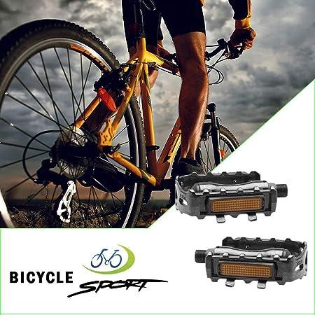 LIZHIGE Pedales para Bicicleta Pedales Antideslizantes para ...