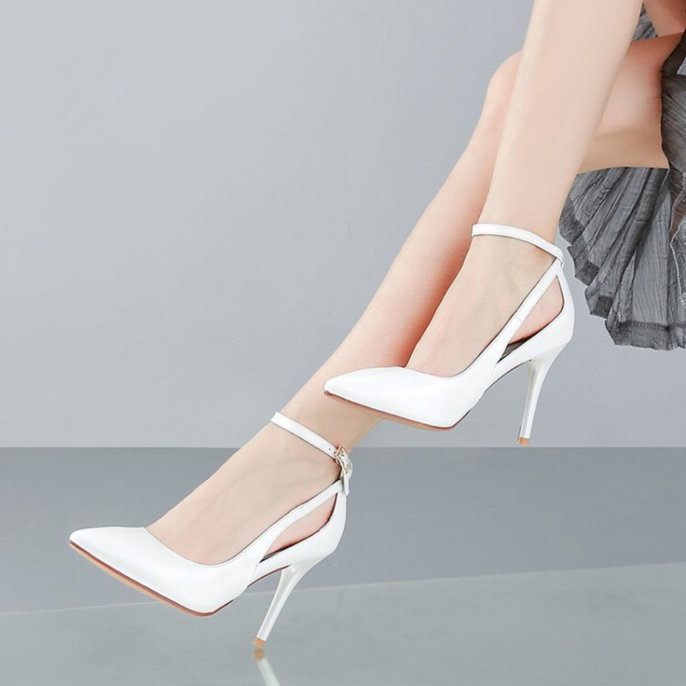 DHG High-End-Schuhe mit mit mit Hohem Absatz und Knöcheln mit Flachem Mund Einzelne Schuhe Wies Weibliche Schuhe C und Höhe 7cm 37 c9768e