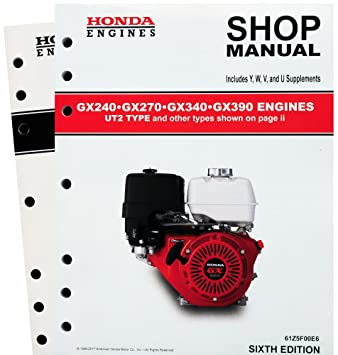 amazon com honda gx240 gx270 gx340 gx390 ut2 engine service repair rh amazon com Honda GX340 11 HP Engine Honda GX340 11 HP Engine