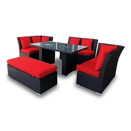 Amazon Com Jamaican Outdoor Wicker Patio Furniture Sofa And Dining